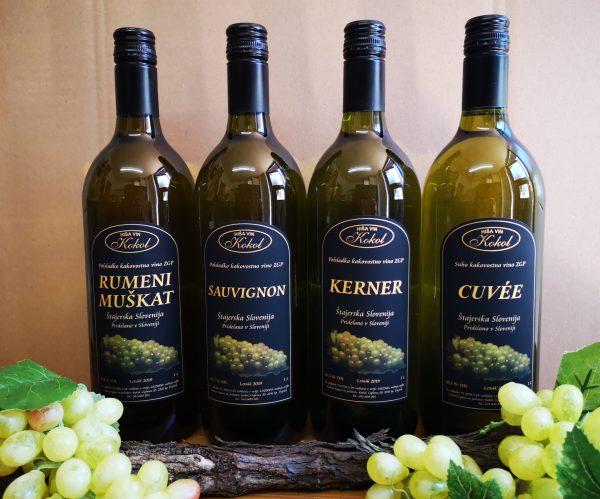 Ustekleničeno vino 1l Hiša vin Kokol